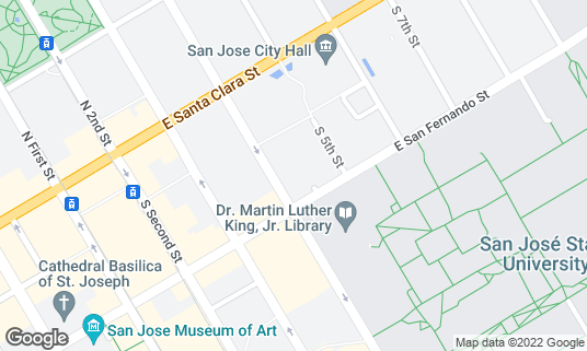 Map of Flames Eatery & Bar at 88 S 4th St San Jose, CA