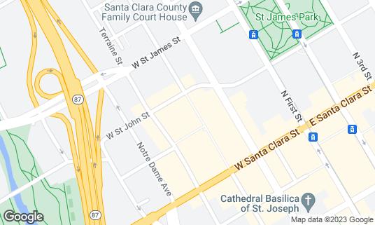 Map of San Pedro Square Market at 87 N San Pedro St San Jose, CA