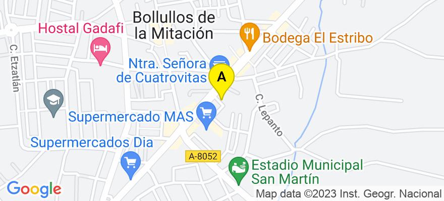 situacion en el mapa de . Direccion: C/ Doñana 3, 41110 Bollullos de la Mitación. Sevilla