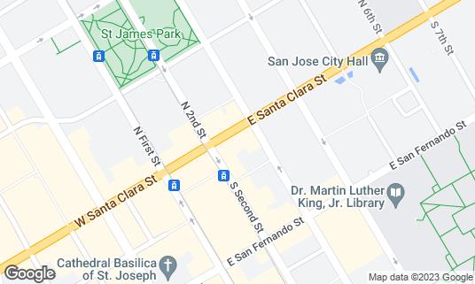 Map of Dive Bar at 78 E Santa Clara St San Jose, CA