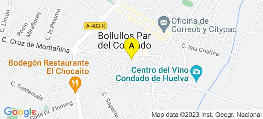 situacion en el mapa de . Direccion: C/ Alfredo Perez Cano, 1, 2ºB, 21710 Bollullos Par del Condado. Huelva