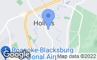 Map of Hollins, VA
