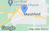 Map of Marshfield, MO