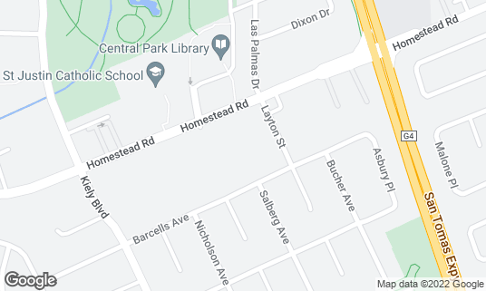 Map of Sumiya Japanese Charcoal Grill at 2634 Homestead Rd Santa Clara, CA