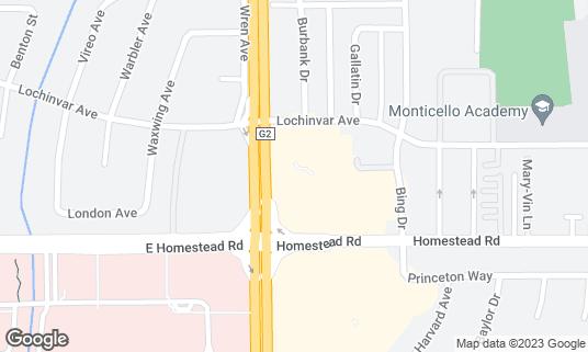 Map of Chimek at 3597 Homestead Rd Santa Clara, CA