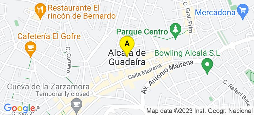 situacion en el mapa de . Direccion: C/ Mairena nº83 (Acc 2), 41500 Alcalá de Guadaíra. Sevilla