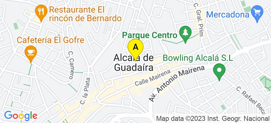 situacion en el mapa de . Direccion: Avenida Antonio Mairena nº 5 Local-6A, 41500 Alcalá de Guadaíra. Sevilla