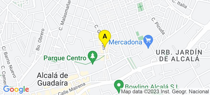 situacion en el mapa de . Direccion: C/ General Prim n 18, 41500 Alcalá de Guadaíra. Sevilla