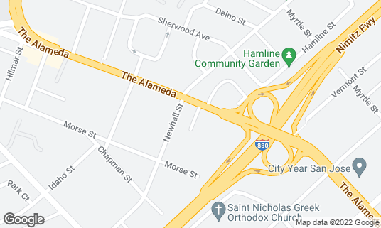 Map of Bill's Cafe at 2089 The Alameda San Jose, CA