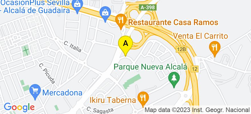 situacion en el mapa de . Direccion: CALLE MANUEL AZAÑA, 23, 41500 Alcalá de Guadaíra. Sevilla