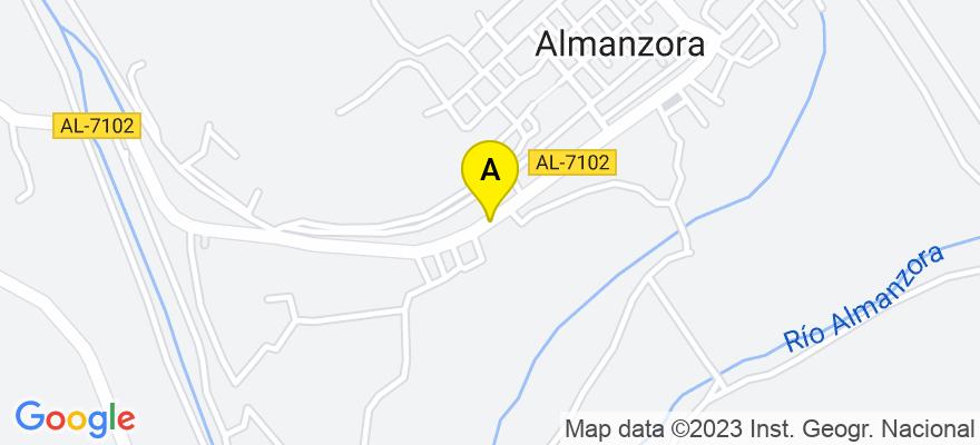 situacion en el mapa de . Direccion: Calle Estación n16, 1A,  Almanzora, 04815 Cantoria. Almería