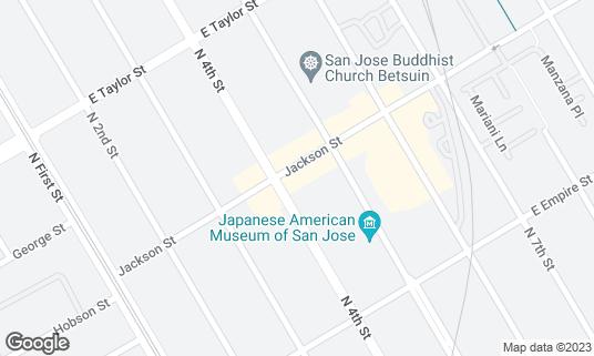 Map of 7 Bamboo at 162 Jackson St San Jose, CA