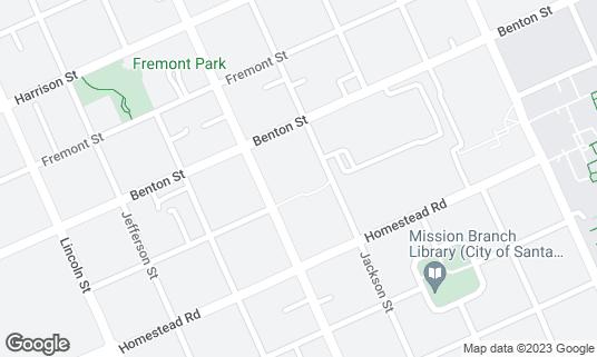 Map of DaSilva's Bronco's at 1251 Franklin Mall Santa Clara, CA