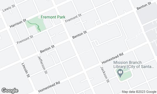 Map of Blinky's Can't Say at 1031 Monroe St Santa Clara, CA
