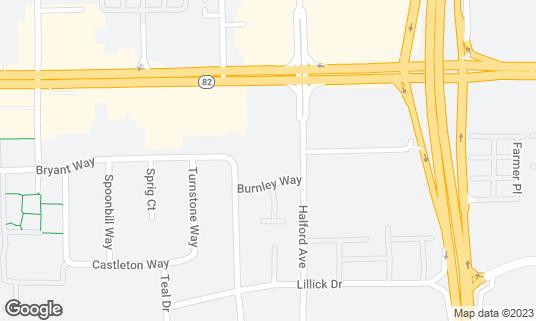 Map of Beijing Restraunt at 1460 Halford Ave Santa Clara, CA
