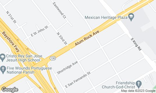 Map of Adega at 1614 Alum Rock Ave San Jose, CA