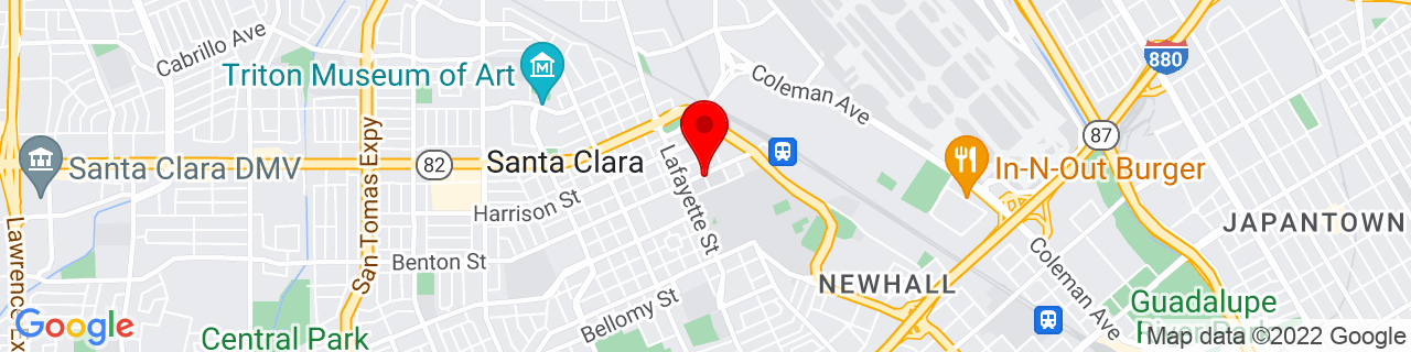 Google Map of 37.351539, -121.942299
