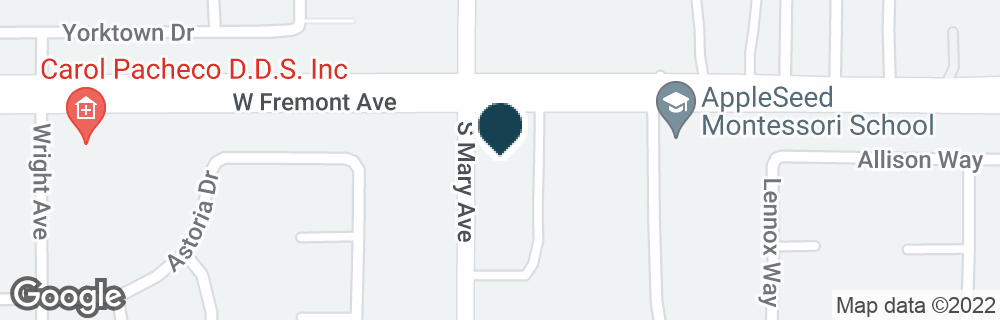 Google Map of1306 S MARY AVE