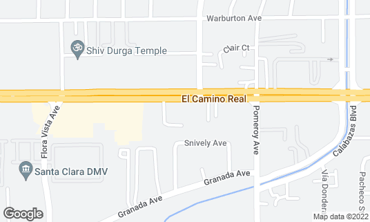 Map of Camino Karaoke at 3378 El Camino Real Santa Clara, CA
