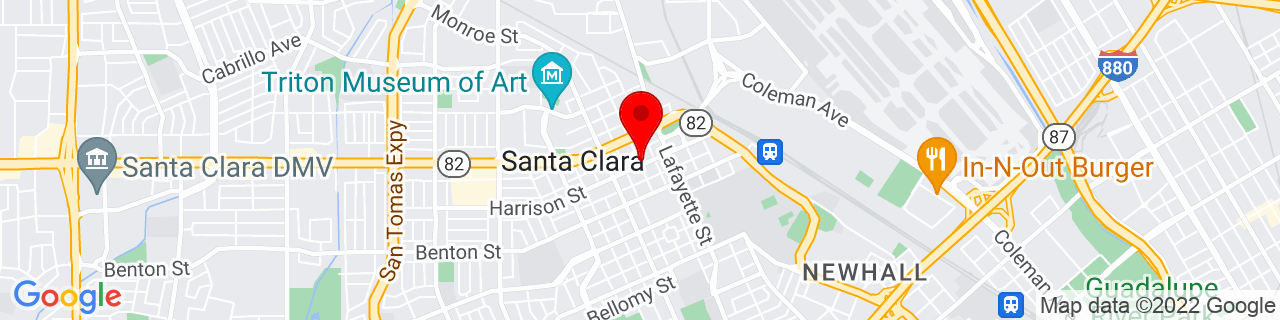 Google Map of 37.352509, -121.947309