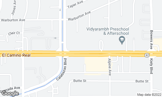 Map of Aachi Aappakadai at 3075 El Camino Real Santa Clara, CA