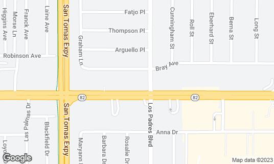 Map of Dusita Thai at 2325 El Camino Real Santa Clara, CA