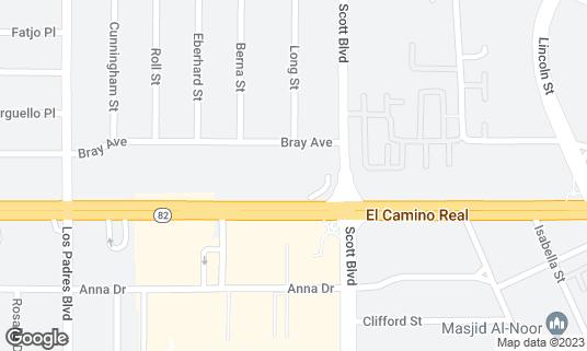 Map of Patel Brothers at 2039 El Camino Real Santa Clara, CA