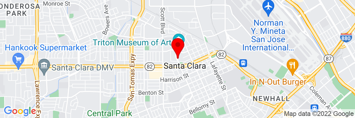 Google Map of 37.354107777778,-121.95523555556