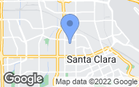 Map of Santa Clara, CA