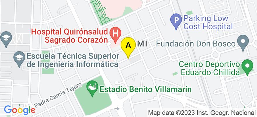 situacion en el mapa de . Direccion: Calle Castillo de Utrera nº 2A. Sevilla, 41013 Sevilla. Sevilla