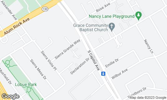Map of El Culichi Vip at 175 S Capitol Ave San Jose, CA