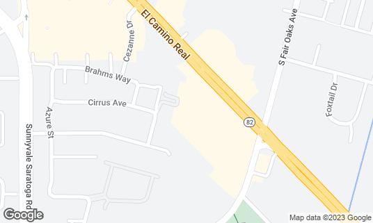 Map of Bon Chon Chicken at 572 E El Camino Real Sunnyvale, CA