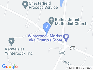 Map of Kennels at Winterpock Incorporated Dog Boarding options in Chesterfield | Boarding
