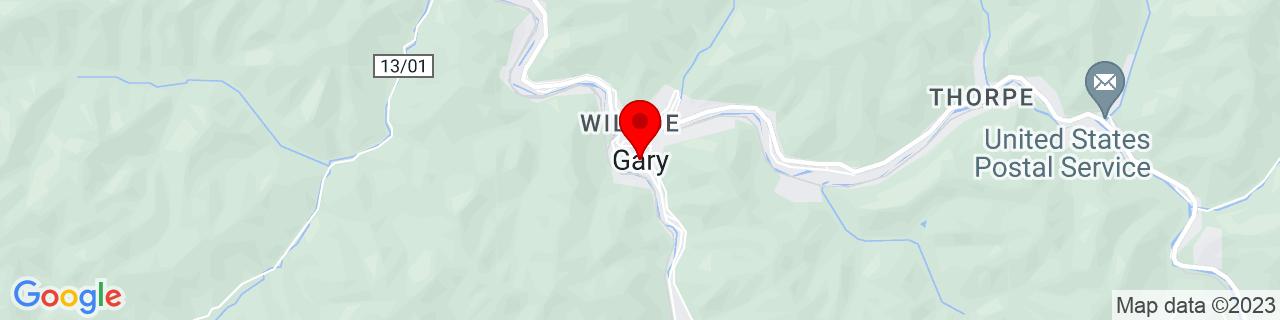 Google Map of 37.36373, -81.55011