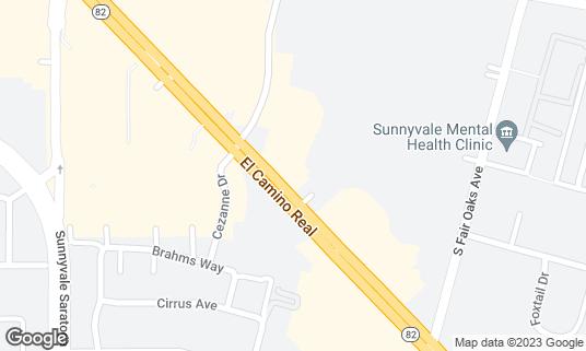 Map of Black Bear Diner at 415 E El Camino Real Sunnyvale, CA