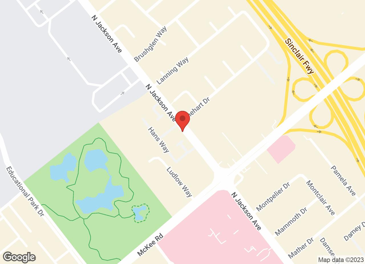 Google Map of VCA Crocker Animal Hospital