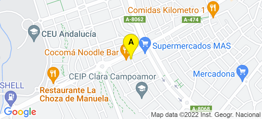 situacion en el mapa de . Direccion: ALBAICIN 2A OF. 3, 41930 Bormujos. Sevilla
