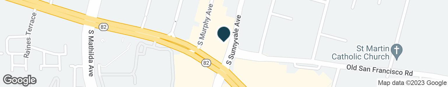 Google Map of105 E EL CAMINO REAL
