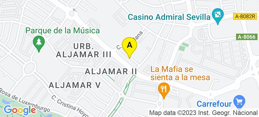 situacion en el mapa de . Direccion: C/ Casablanca, 32, 41940 Tomares. Sevilla