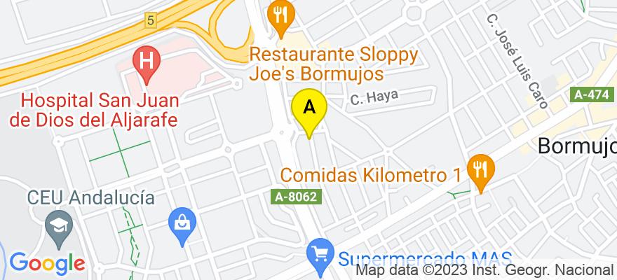 situacion en el mapa de . Direccion: C/ puerta macarena 63, 41930 Bormujos. Sevilla