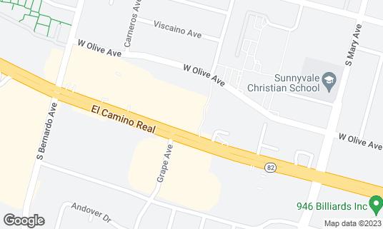 Map of Aachi Appakadai at 1105 W El Camino Real Sunnyvale, CA