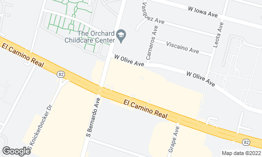 Map of Madras Cafe at 1177 W El Camino Real Sunnyvale, CA