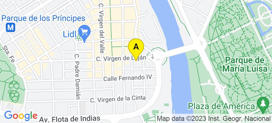 situacion en el mapa de . Direccion: Virgen de Lujan 3. 2B, 41011 Sevilla. Sevilla