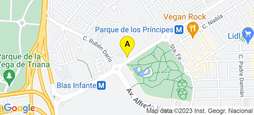 situacion en el mapa de . Direccion: Av. Blas Infante num.6, 8.A, 41011 Sevilla. Sevilla
