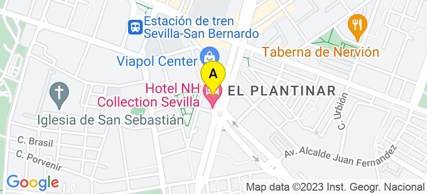 situacion en el mapa de . Direccion: avenida diego martinez barrios numero 4, 41013 Sevilla. Sevilla
