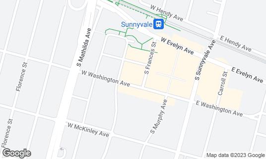 Map of Nom Burger at 251 W Washington Ave Sunnyvale, CA