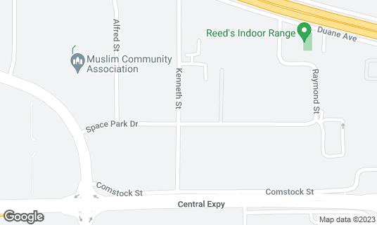 Map of Athena Grill & Catering at 1505 Space Park Dr Santa Clara, CA