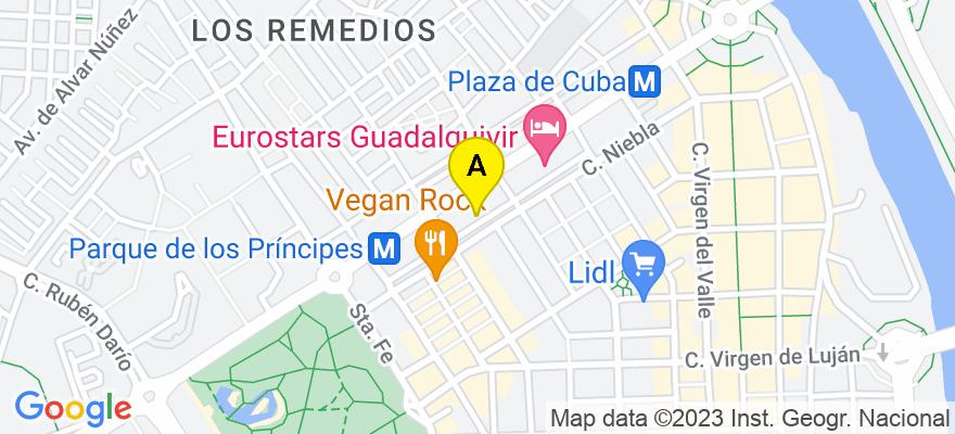 situacion en el mapa de . Direccion: Avenida República Argentina 29 B, 41011 Sevilla. Sevilla