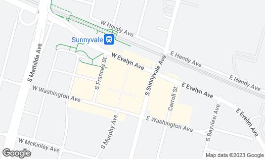 Map of Paul & Harvey's at 130 S Murphy Ave Sunnyvale, CA