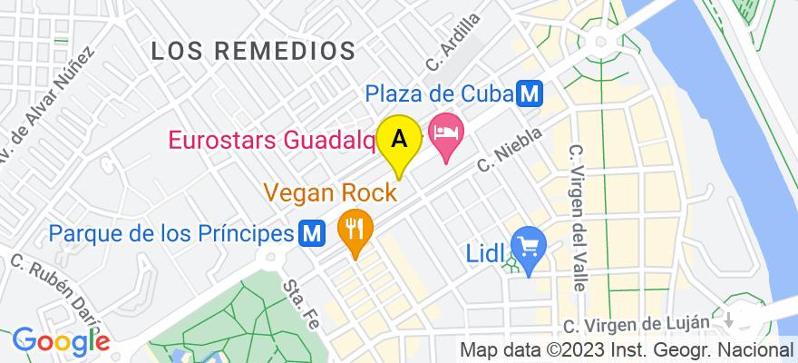 situacion en el mapa de . Direccion: Avenida República Argentina 27, 41011 Sevilla. Sevilla